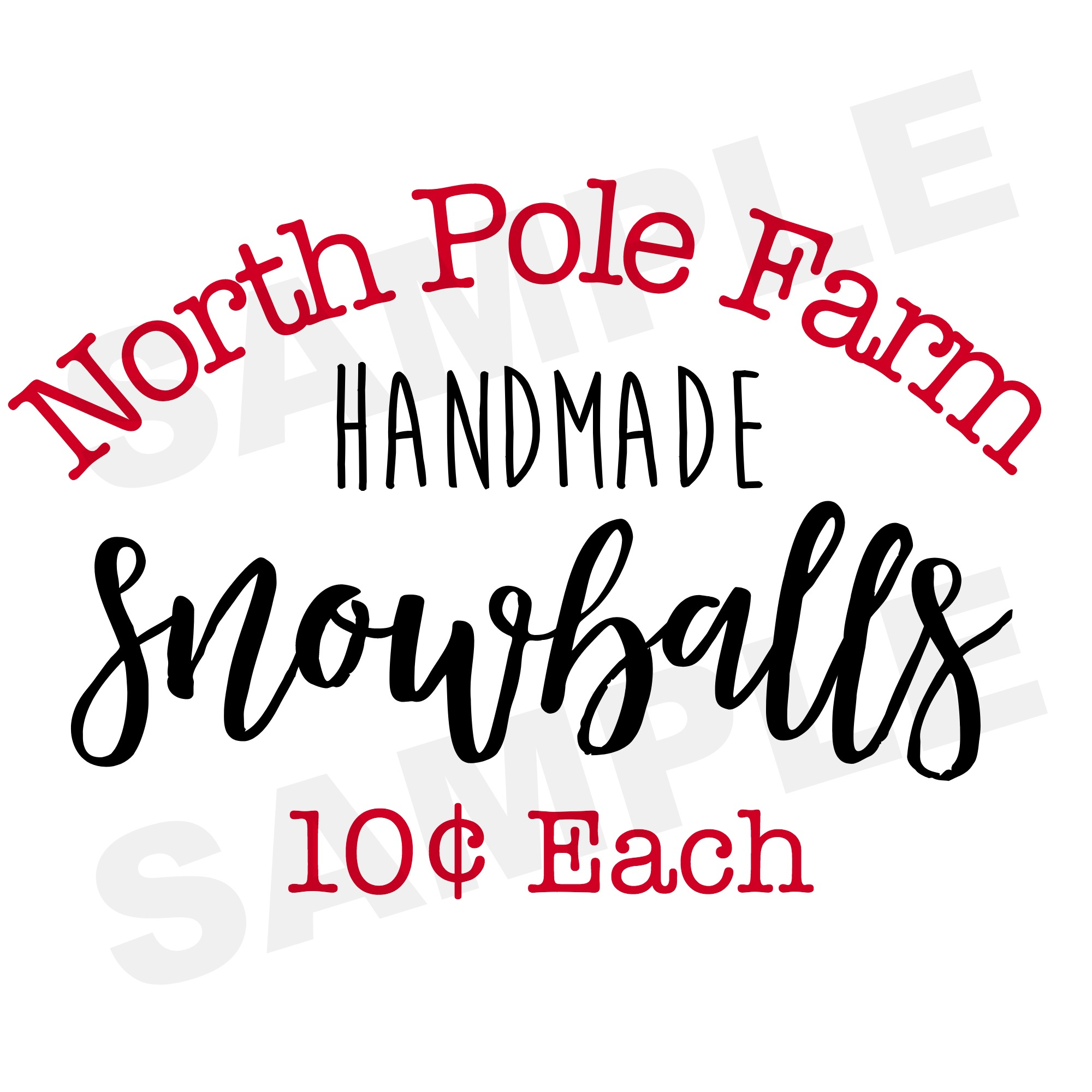 North Pole Farm Snowballs Printable | The Everyday Home