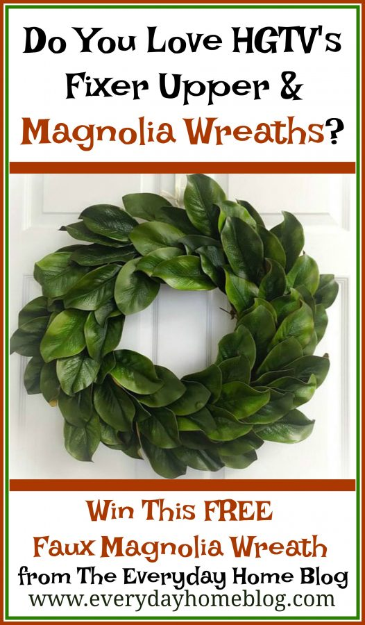Win a FREE Magnolia Wreath | The Everyday Home