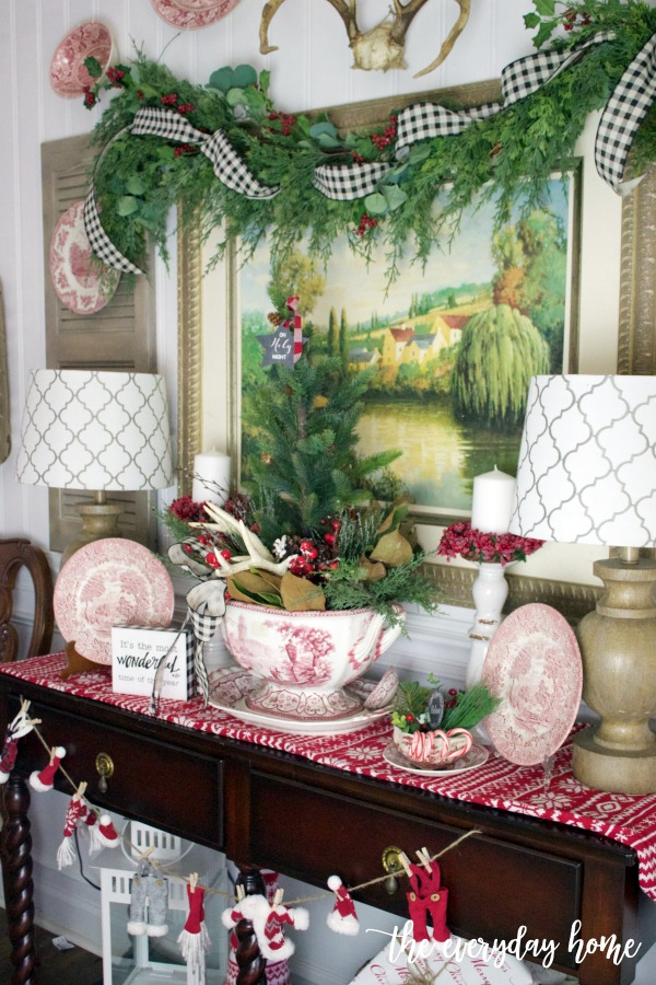 Old Fashioned Christmas English Sideboard | The Everyday Home