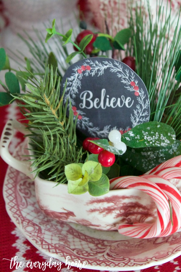 Old Fashioned Christmas Candy Cane Dish | The Everyday Home