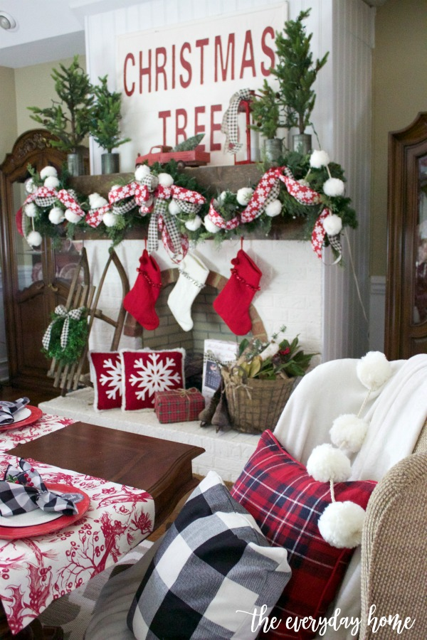 An Old Fashioned Christmas Mantel | The Everyday Home