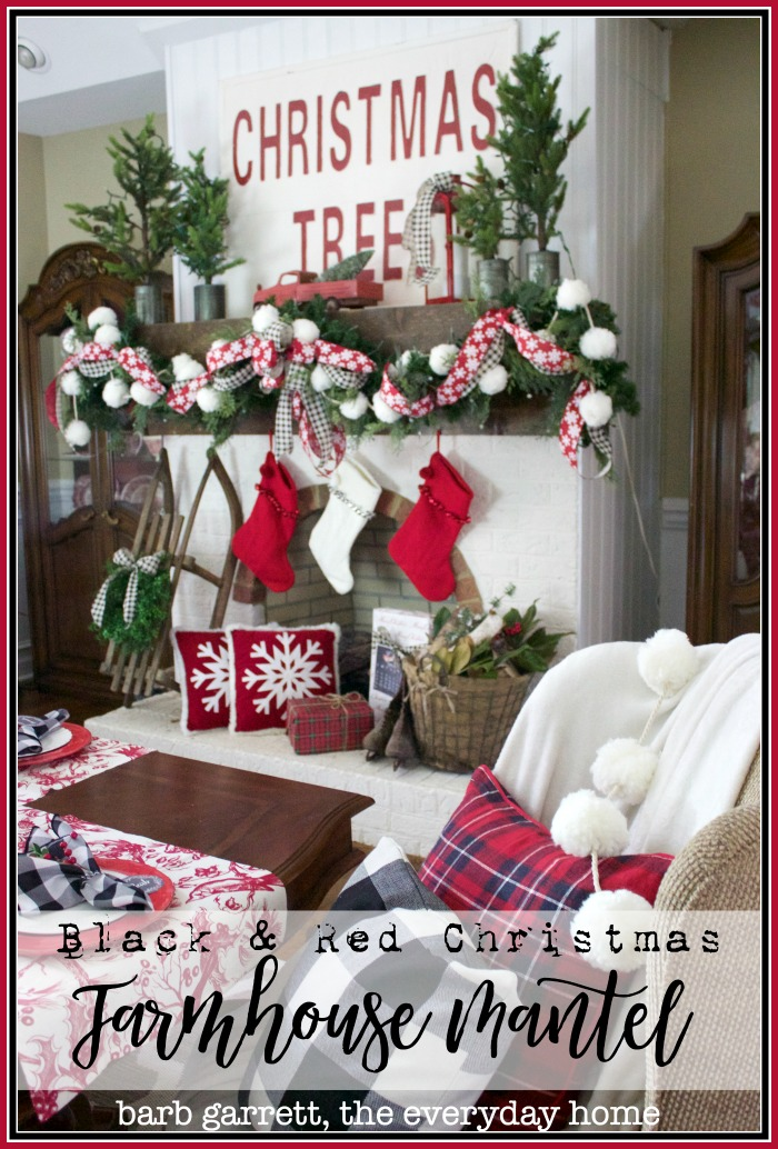 An Old Fashioned Farmhouse Christmas Mantel | The Everyday Home