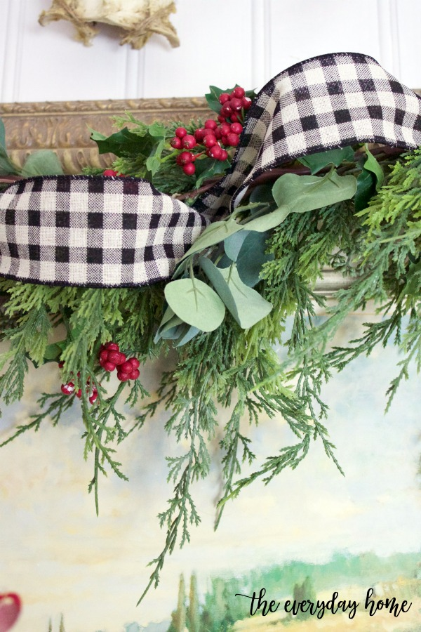 Black and White Checked Ribbon Garland | The Everyday Home