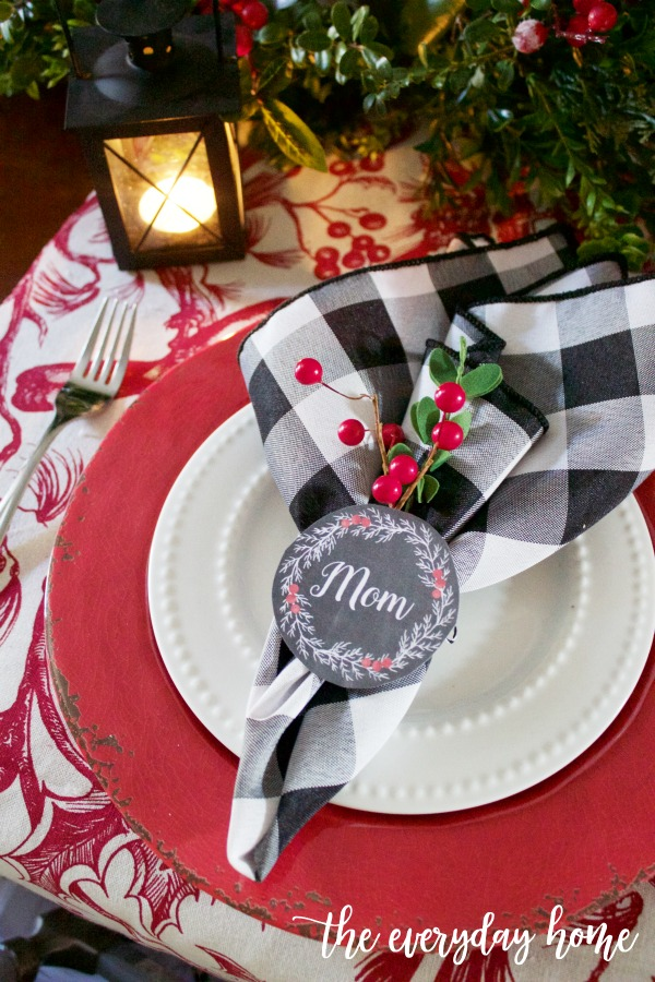 Christmas Napkin Ring Printables The Everyday Home