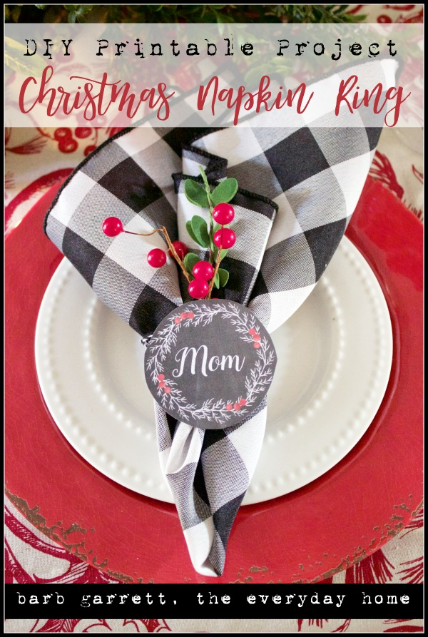 photo regarding Printable Napkin Rings identified as Do it yourself Xmas Printable Napkin Ring The Day-to-day Household