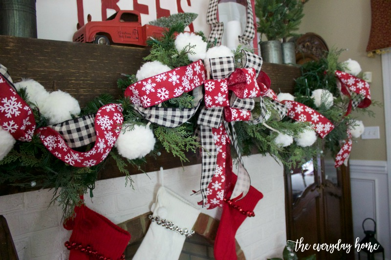 Garland-on-Farmhouse-Mantel-The-Everyday