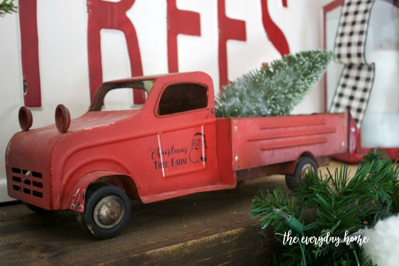 Vintage Red Christmas Tree Truck | The Everyday Home