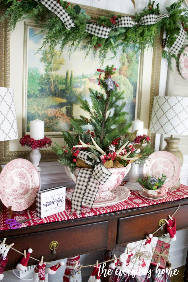 An Old Fashioned Christmas English Sideboard | The Everyday Home