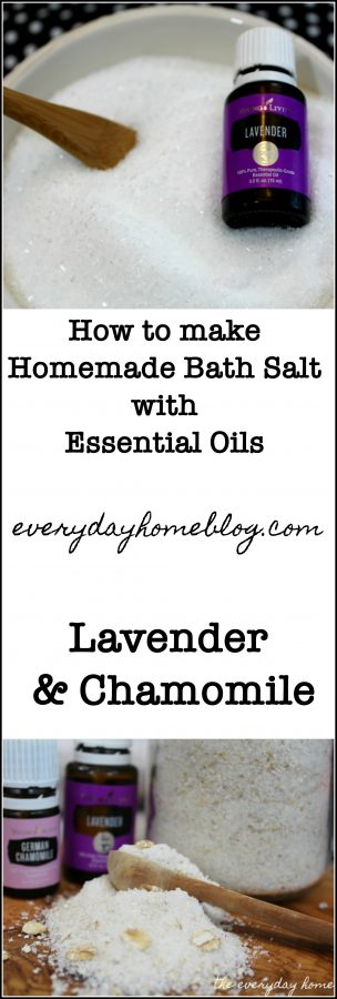 DIY Bath Salts with EO Chamomile & Lavender | the everyday home