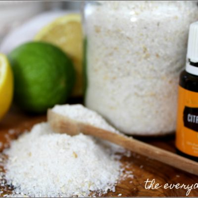 How to Make Homemade Bath Salts with Essential Oils {Part 1}