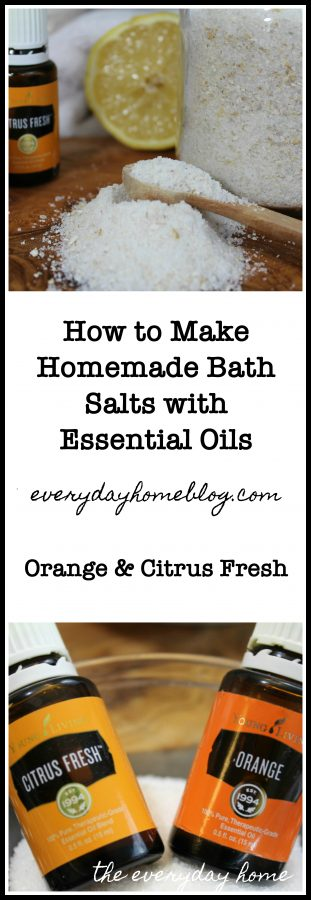 DIY Essential Oil Bath Salts | The Everyday Home