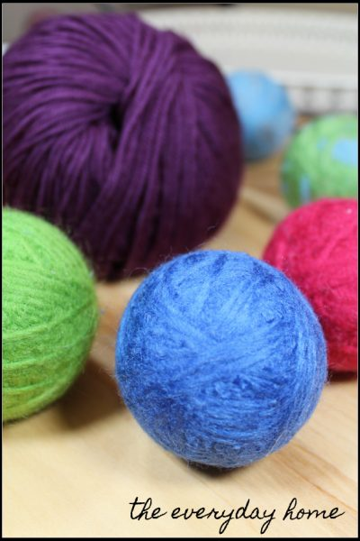 DIY Wool Dryer Balls with EOs | the everyday home