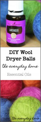 DIY Wool Dryer Balls with Essential Oils | the everyday home