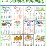 FREE 2018 12-Month Calendar Printables