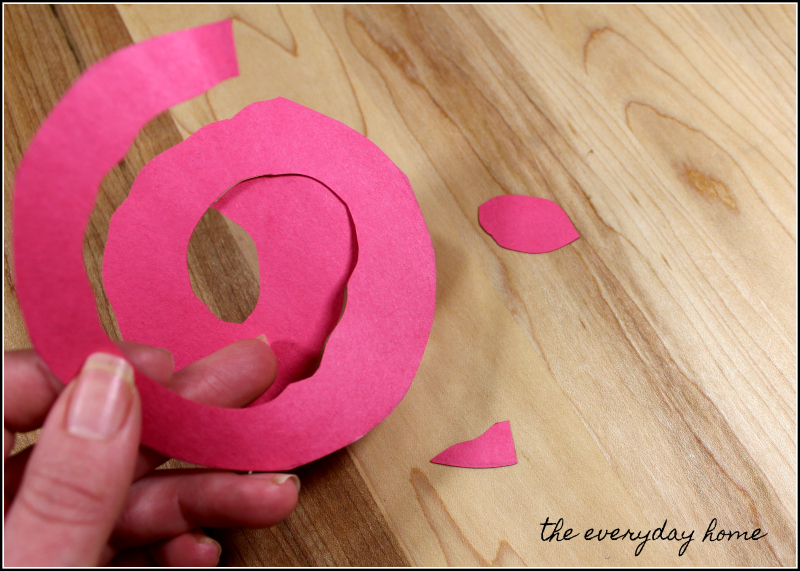 Homemade Valentine's Day Wreath Easy Paper