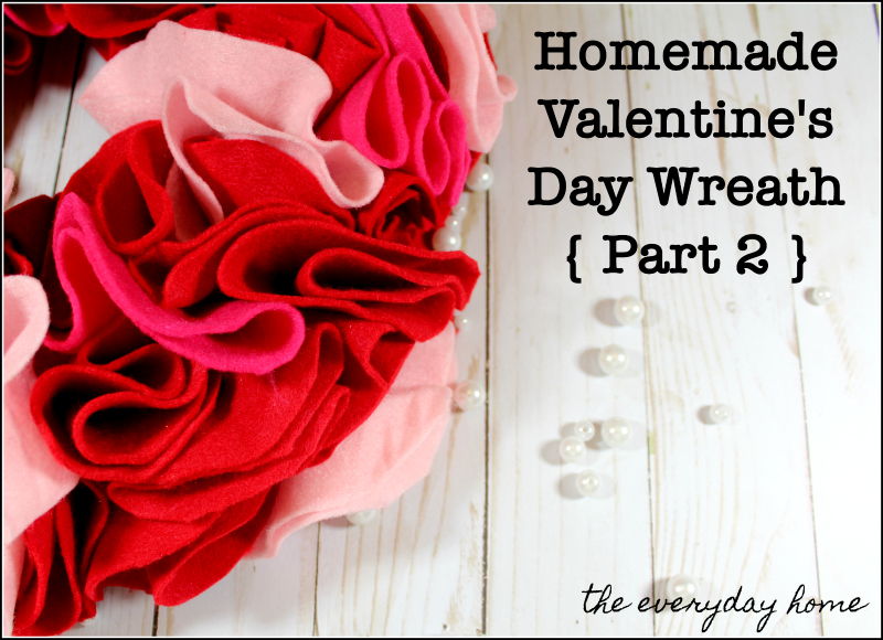 Homemade Valentine's Day Wreath with Red Felt | the everyday home